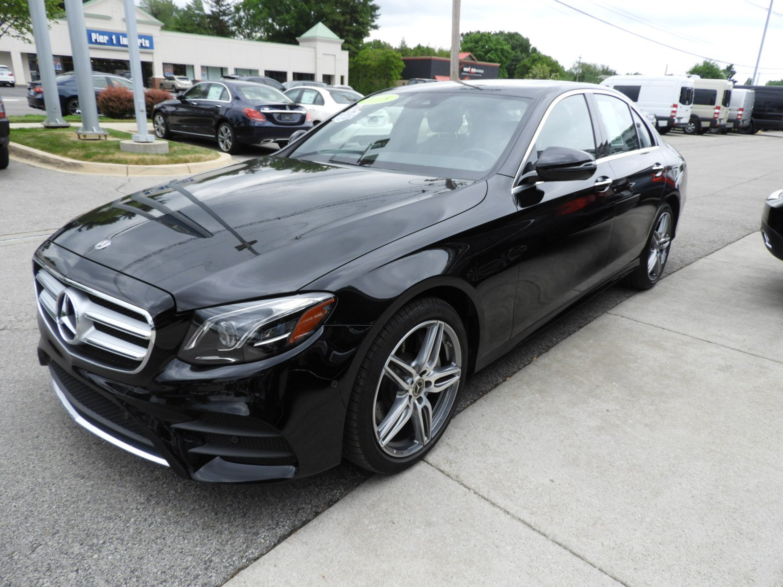 Pre owned 2018 mercedes benz e class e 300 4matic sport for Mercedes benz credit card review